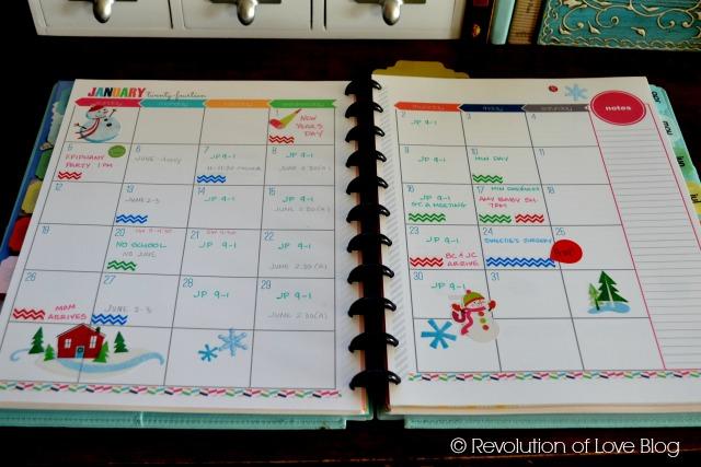© Revolution of Love Blog - planner_calendar