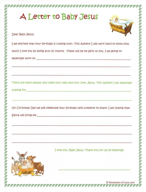 A christmas letter to baby jesus instead of santa revolution of love revolutionoflove rolbabyjesusletter spiritdancerdesigns
