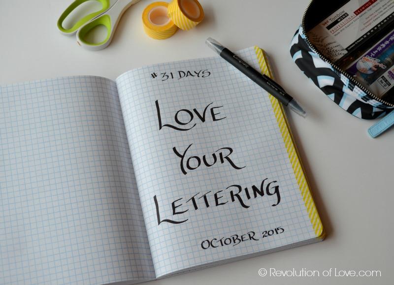RevolutionofLove.com - #LoveYourLettering Challenge (lettering_day_1b)