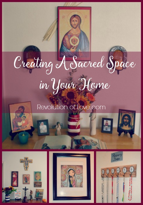 RevolutionofLove.com - Creating A Sacred Space in Your Home - altar_collage_2