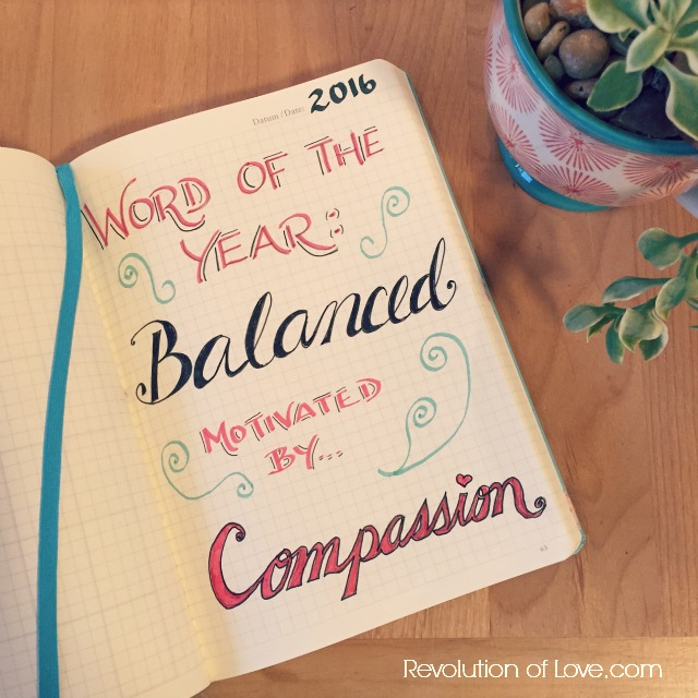 RevolutionofLove.com - Word of 2016: Balanced // goals_jan_feb_2016B