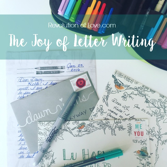 RevolutionofLove.com - The Joy of Letter Writing - logo_letter_writing