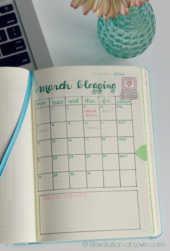 RevolutionofLove.com - Bullet Journal Spring Update //bujo_blog_march