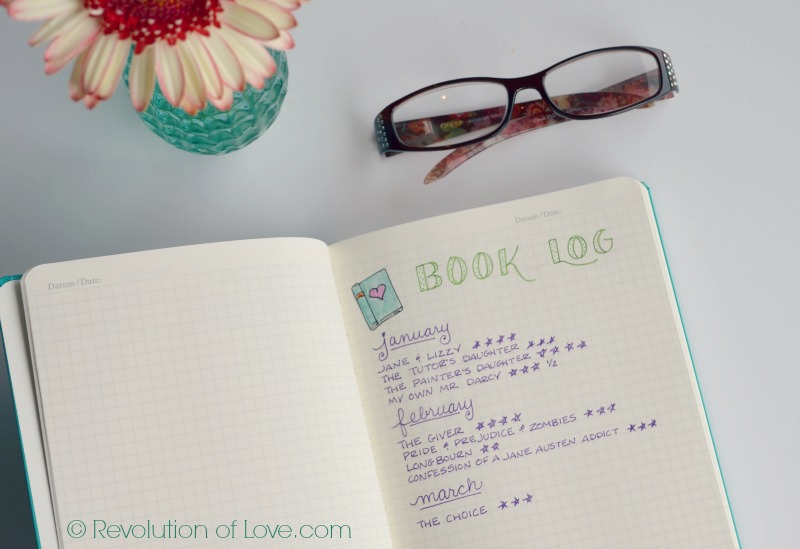 RevolutionofLove.com - Bullet Journal Spring Update //bujo_book_log_mar