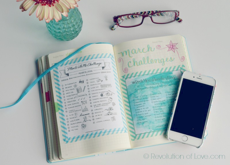 RevolutionofLove.com - Bullet Journal Spring Update //bujo_challenge_march2