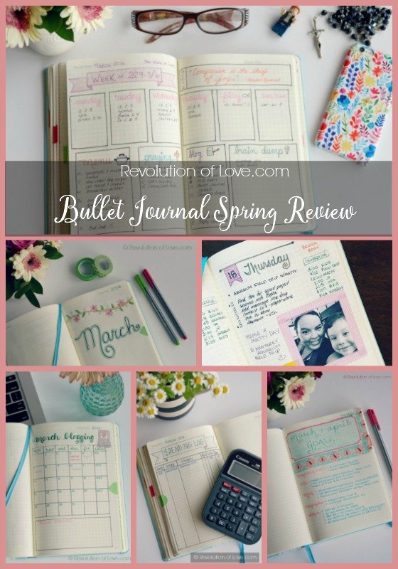 RevolutionofLove.com - Bullet Journal Spring Update /bujo_collage_spring_review