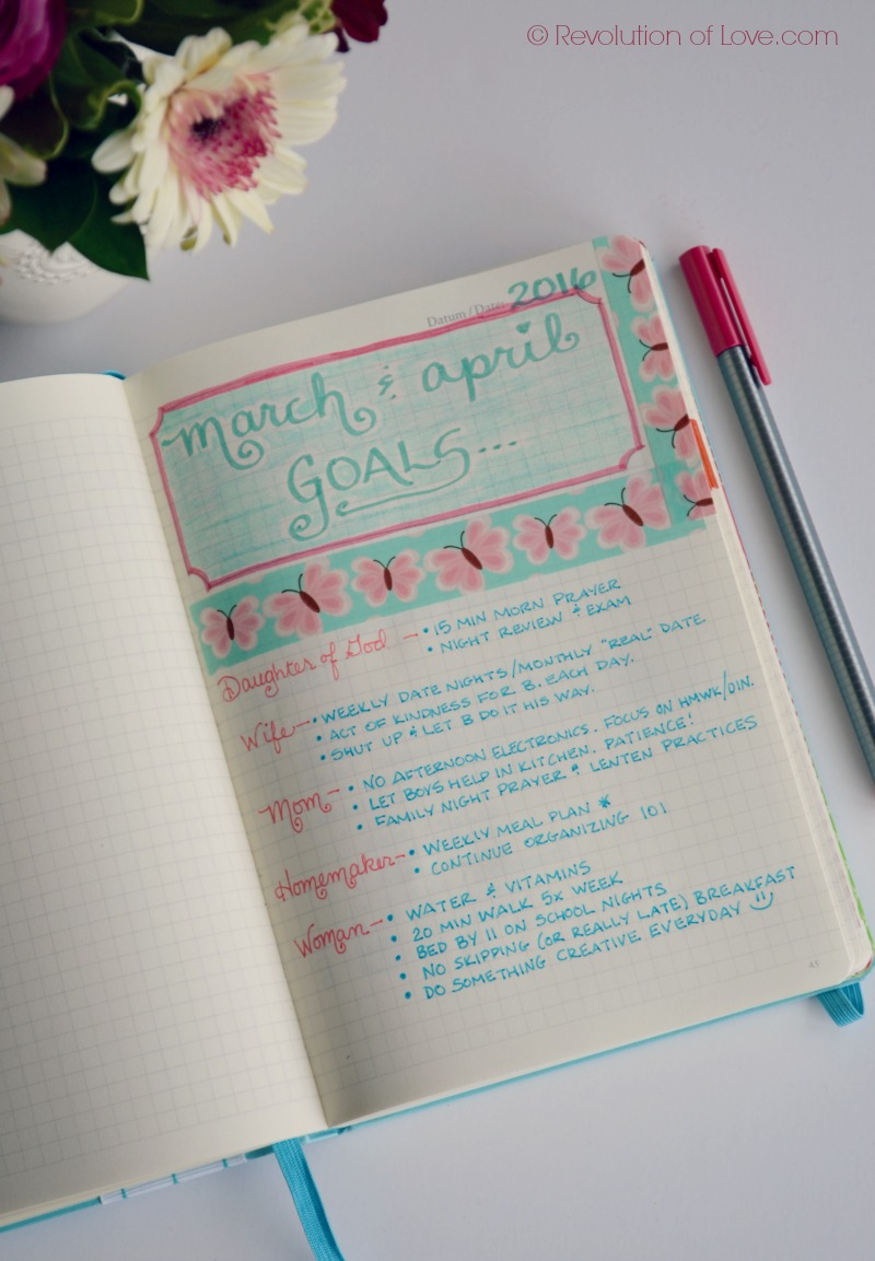 RevolutionofLove.com - Bullet Journal Spring Update //bujo_goals_2_march