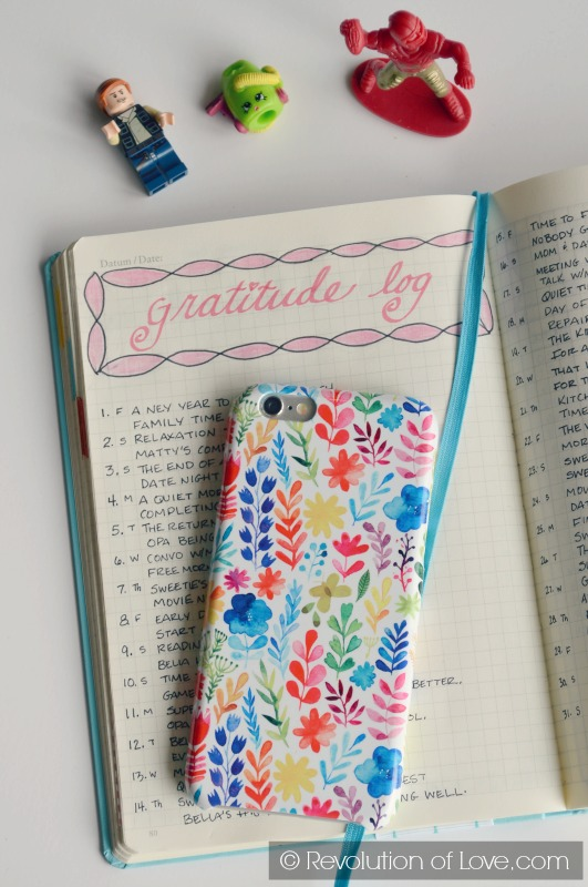 RevolutionofLove.com - Bullet Journal Spring Update //bujo_gratitude_feb