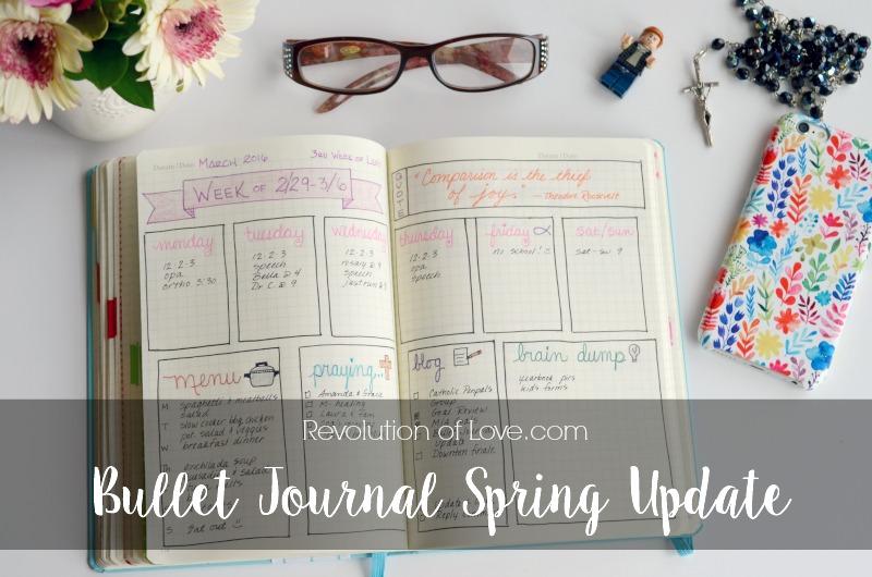 RevolutionofLove.com - Bullet Journal Spring Update //bujo_logo_spring_update