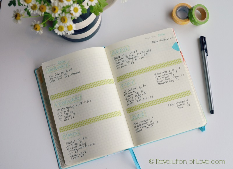 RevolutionofLove.com - Bullet Journal Spring Update //bujo_six_month_mar