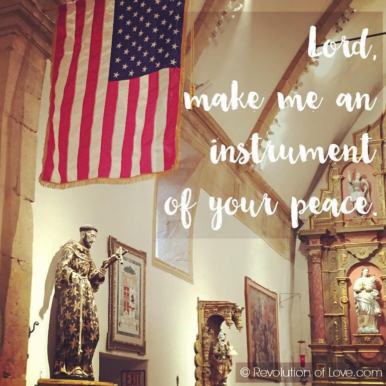 RevolutionofLove.com - flag_peace